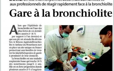 article de presse sur la bronchiolite